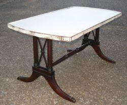 ANTIQUE SHERATON COFFEE TABLE - 1930-1940s
