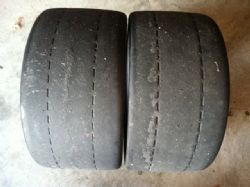 2 - BF Goodrich G Force R1 Racing tires / slicks 265/35/18